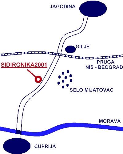 mapa sidironika2001 ćuprija